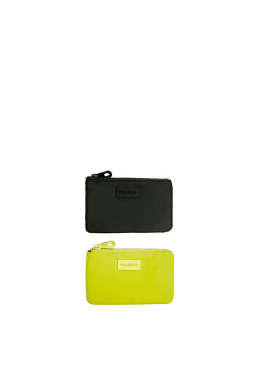 2-pack of rubberised purses