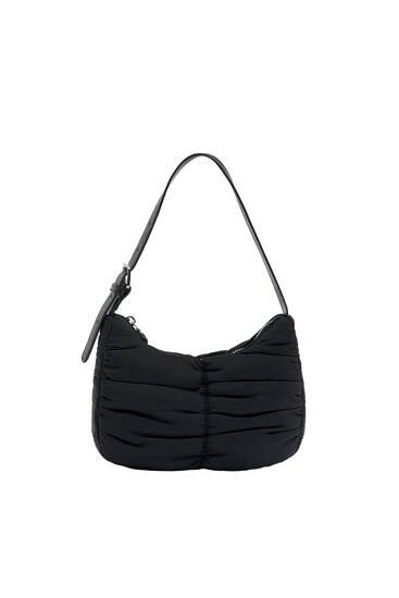 Gathered shoulder bag