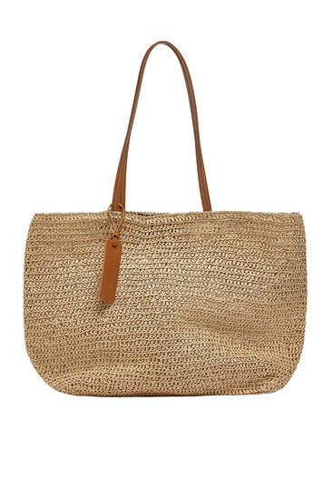 Braided paperbag style tote bag