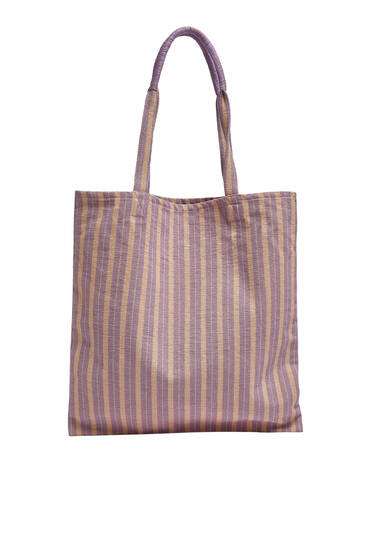 Borsa shopper a righe