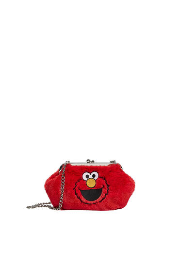 Faux fur Sesame Street crossbody bag