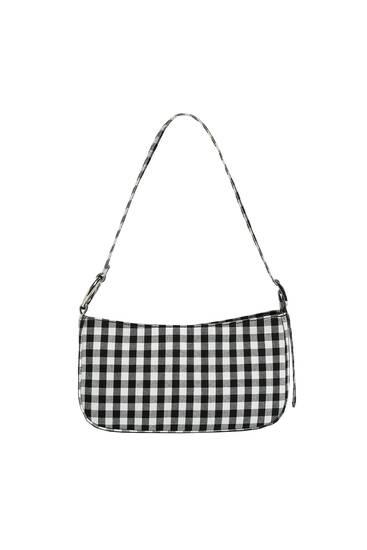 Чанта за през рамо на каре Виши