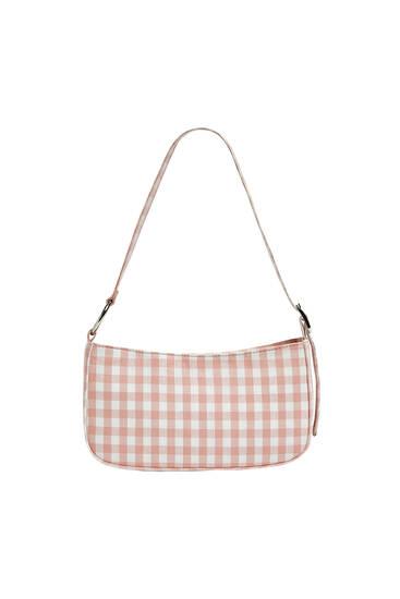 Gingham shoulder bag
