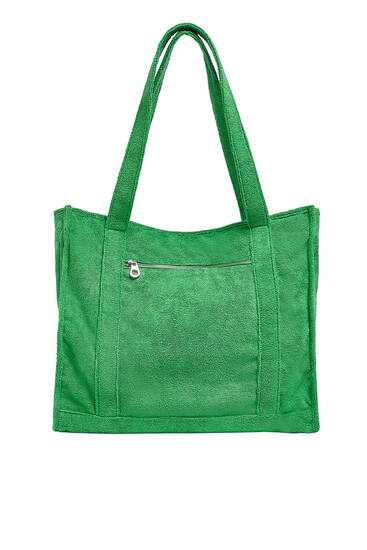 Towel tote bag
