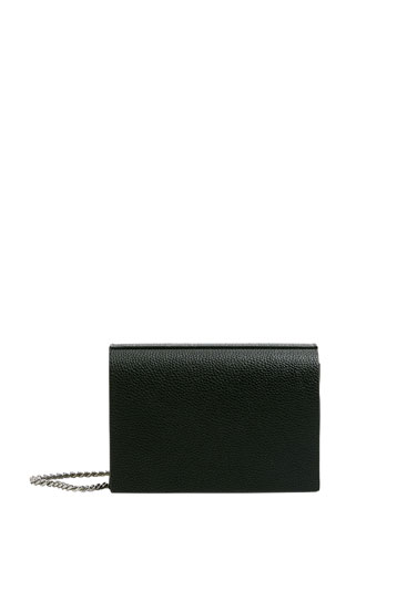 Customised basic black crossbody bag