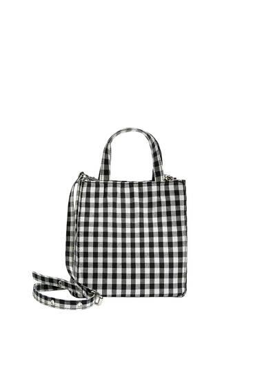 Gingham crossbody bag
