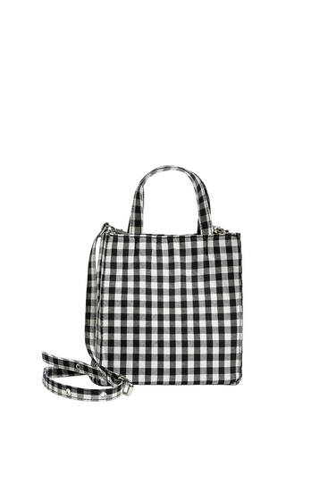 Gingham crossbody bag