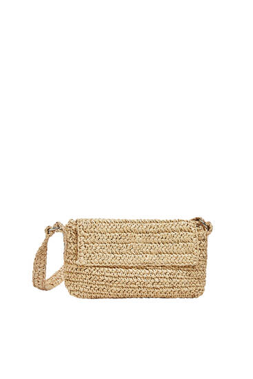 Braided paperbag style shoulder bag