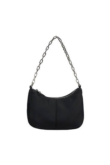 Shoulder bag with chain detail