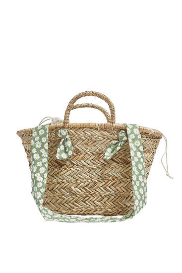 Tote bag with daisies