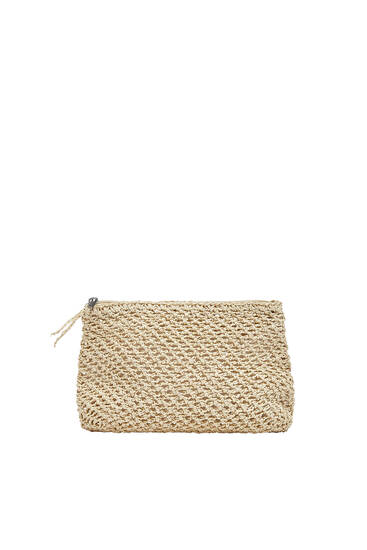 Braided paperbag style toiletry bag
