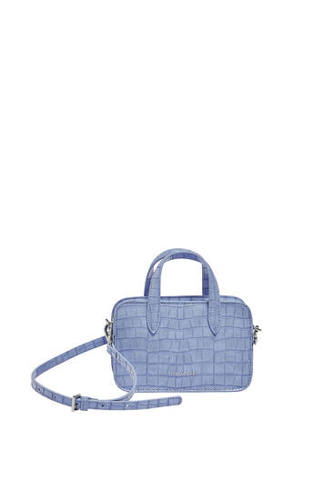 Mock croc mini crossbody bag