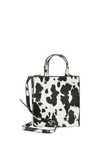 Crossbody cow print bag