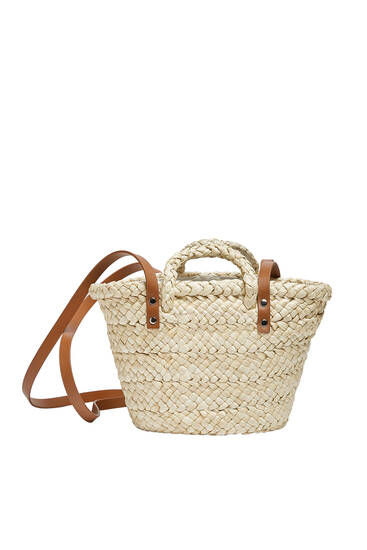 Mini basket bag with handles