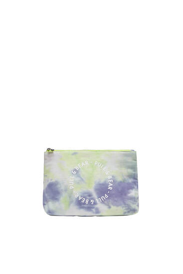 Tie-dye toiletry bag