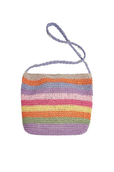 Multicoloured crossbody bag with seashell detail