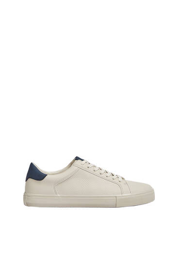 Casual contrast heel tab trainers