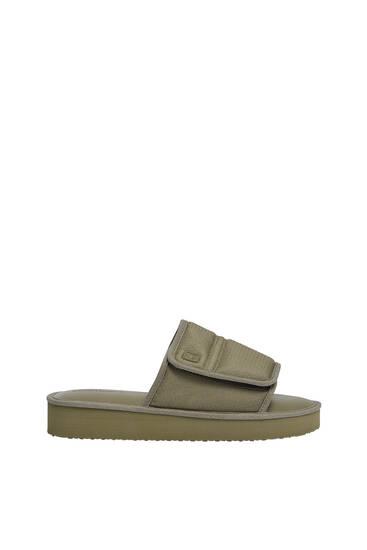 Padded slide sandals