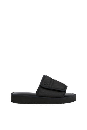 Padded slide sandals